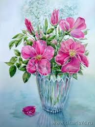 Vase Of Flowers Drawing Vase With The Flowers Drawing By Elena Bokareva