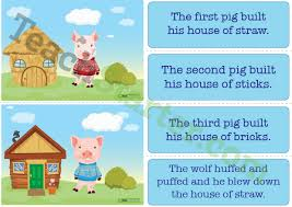 pigs sequencing activity cards teaching resource