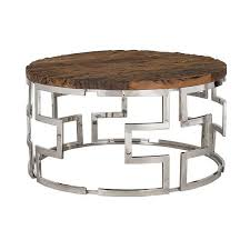 reclaimed wood round coffee table luxe kensington reclaimed wood round coffee table reclaimed wood end