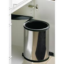 poubelle cuisine inox poubelle de porte automatique en inox 1 seau de 13 litres wesco
