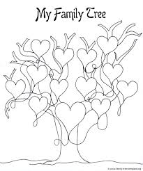 printable family tree for to color and with