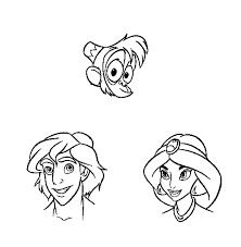 characters of aladdin coloring pages cartoon coloring pages of