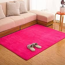 amazon com ustide pink carpet for girls coral fleece rug soft