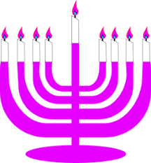simple menorah color wheel of simple menorah for hanukkah with shamash clipart