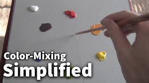color mixing simplified 01 acrylic u0026 oil painting lesson youtube