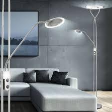 elegante led stehleuchte mit deckenfluter und leseleuchte lampen