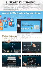eincar online 2 din gps car stereo android 6 0 quad core 16g rom