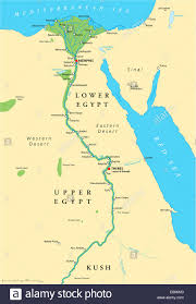 Labeled Africa Map by Ancient Egypt Map With Important Sights Sinai Peninsula Nile