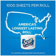 scott 1000 sheets per roll bathroom tissue toilet paper 12 rolls