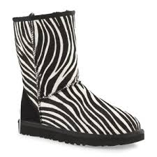 ugg zebra boots sale ugg australia black white zebra print boots booties size us 7