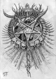 brilliant satanic logo design by zmeymh