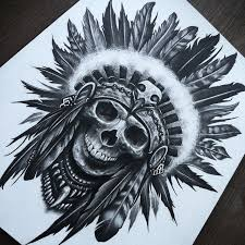 skull headdress by herrerabrandon60 on deviantart tatuajes
