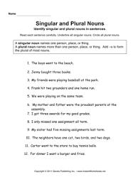 singular plural nouns u2014 instant worksheets