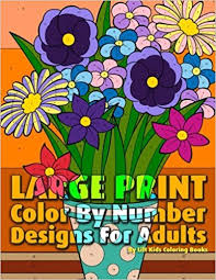 amazon large print color number designs adults