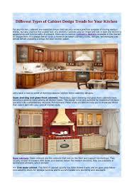 kitchen cabinet design names different types of cabinet design trends for your kitchen