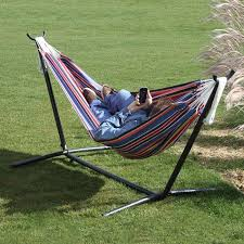 vivere hammocks c9poly 1 double polyester hammock with stand the