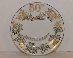 50th wedding anniversary plates vintage 50th anniversary gifts etsy