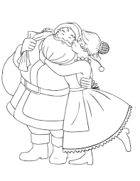 mr u0026 mrs santa claus coloring pages christmas mr u0026 mrs