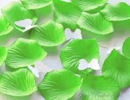 Lime Green Flowers - 1000 pieces lime green silk rose petals wedding flower facor