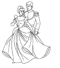cinderella coloring pages prince love cinderella coloring pages