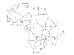 africa map black and white sub saharan africa countries for tuesday s political map quiz