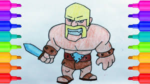 clash of clans how to draw barbarian easy step by step drawing