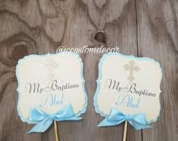 boy baptism centerpieces etsy