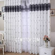 Gray Burlap Curtains Traditional Stylish White And Black Patterned Living Room Burlap