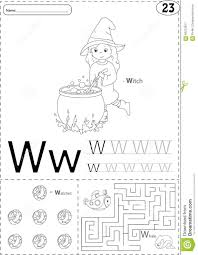 Free Alphabet Tracing Worksheets Cartoon Witch Watches And Whale Alphabet Tracing Worksheet Wr