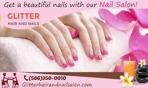 glitter hair and nail salon