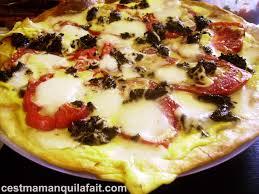 recette cuisine simple et rapide tarte de tomate duxelle rôtie et mozzarella rapide et facile