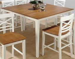 Square Wood Dining Tables White Wood Dining Table And Chairs Pleasing Design Square Dining