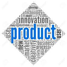 product and creativity concept related words in tag cloud of