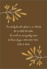 love you like a son father u0027s day card for son in law greeting