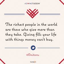 inspirational quotes on giving givingtuesday unselfie everyday gyaan