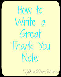 yellow door diaries how to write a great thank you note