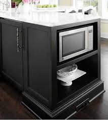kitchen island with microwave best 25 built in microwave ideas on microwave above