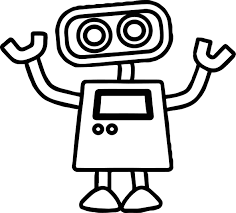 basic cute robot coloring page wecoloringpage