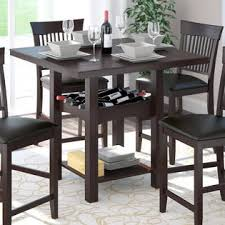 Dining Room Table With Wine Rack Corliving Bistro 36 Counter Height Cocoa Dining Table With
