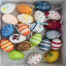 decorated easter eggs for sale 2018 new hot sales 12pcs bag easter decoration egg with rope gifts