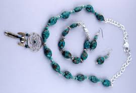 turquoise necklace set images Dreamcatcher jewelry set turquoise necklace set turquoise ear jpg