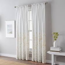 Yellow And Gray Window Curtains Buy Yellow Panel Curtains From Bed Bath Beyond