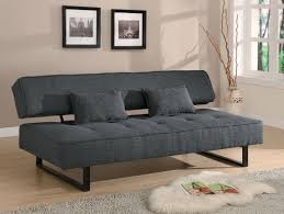 dark grey tweed like fabric sofa bed futon caravana furniture