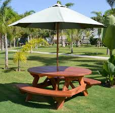 Patio Furniture Umbrella Picnic Table With Umbrella