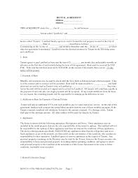 free copy rental lease agreement free rental lease agreement
