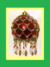 free beaded ornaments patterns free seed bead ornament