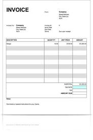 free printable blank invoice template printable invoice template