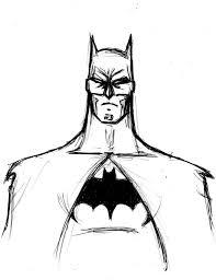 simple batman face sketch drawing of sketch