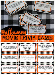 Kid Halloween Movies by Halloween Trivia Game With Free Printables Kids Version And