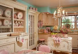 kitchen decoration using light blue pink kitchen wall paint